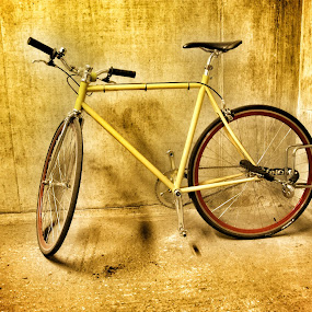 Lonely bike by Yvonne Katcher - Transportation Bicycles ( handle bars, cycle, bike, wheels, spooks )