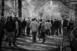 """Photo: This shot was taken at 'Strawberry Fields', a """"living memorial"""" to John Lennon who was shot and killed at the nearby Dakota Apartment building. The site was officially dedicated on October 9th, 1985. What I find somewhat ironic is that the site is a designated """"Quiet Zone"""" in the park, and yet the couple of times I visited here, there was just wave after wave of tourist groups. I'm not against people visiting, it just struck me as funny that a """"Quiet Zone"""" should be filled with noisy tourists."""