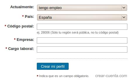 linkedin registro