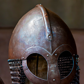 A Viking Warrior Helmet by M. Andersen - Artistic Objects Other Objects ( warrior, center, viking, ribe, esbjerg, helmet, photography,  )