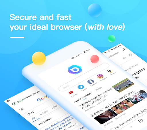 Nox Browser - Fast & Safe Web Browser, Privacy 1.12.0 screenshots 1