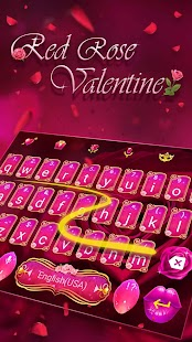 Red Rose Keyboard Theme for Valentine's Day - náhled