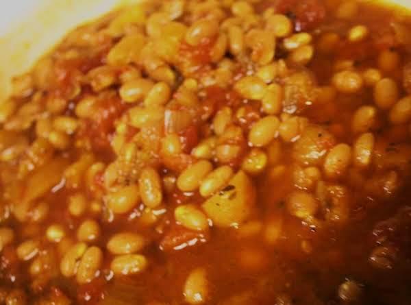 Vegetarian Molasses Baked Beans