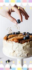 Blueberry Cake - Snapchat Geofilter item