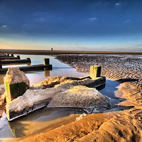 Crosby Beach by Garry Fenton - Landscapes Beaches