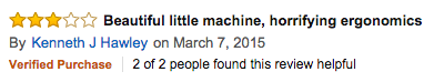Amazon review of manual burr grinders