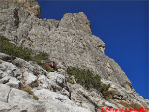 Photo: IMG_4194 Paolo sul secondo tiro della Via del Topo, la Torre Jolanda svetta sopra noi