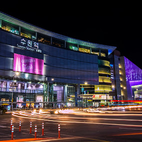 suwon stations by Charles Saswinanto - City,  Street & Park  Night