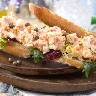 Salmon Arugula Sandwich.