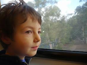 Photo: Clark On A Train