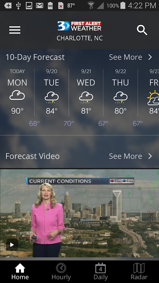 WBTV First Alert Weather- screenshot