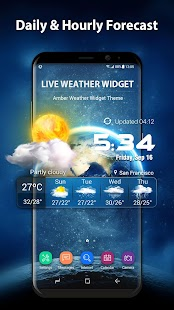 3D Live Weather Alert Widget - náhled