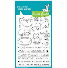 Lawn Fawn Clear Stamps 4X6 - Meow You Doin´