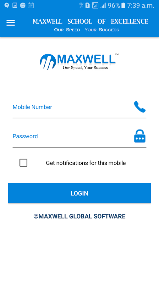 MAXWELL school APP- screenshot