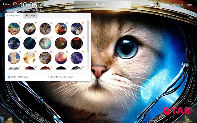 Space Cat Wallpapers Theme Space Cat New Tab