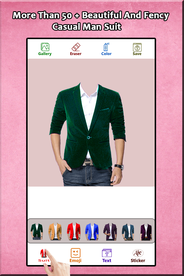 Скриншот Casual Man Suit Photo Editor