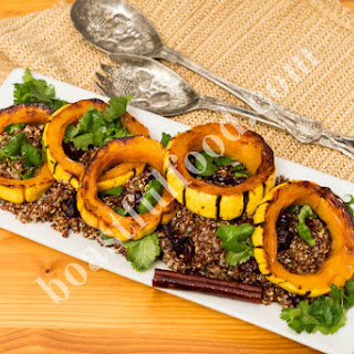 Orange Glazed Delicata Squash & Quinoa