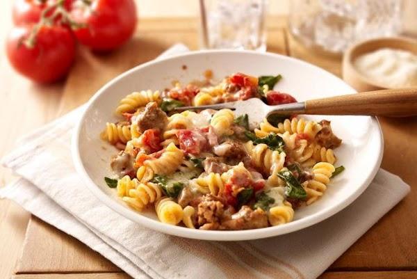 Tomato Spinach Pasta Bake Recipe