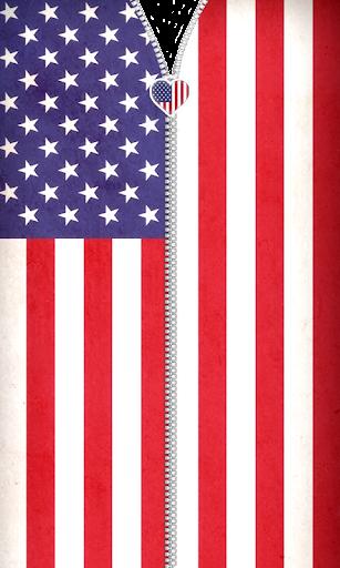 美國國旗拉鍊鎖屏