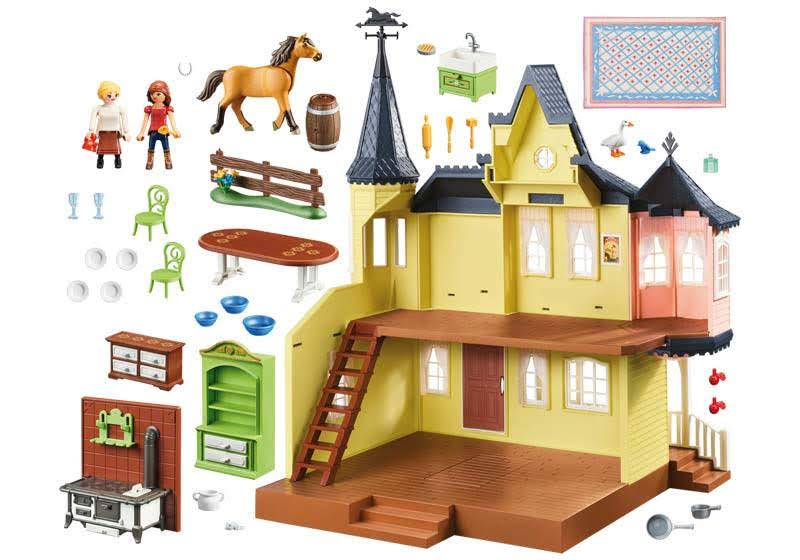 Contenido real de Playmobil® 9475 Casa de Lucky