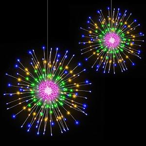Instalatie 5 artificii decorative, diametru 34 cm, lungime 5M