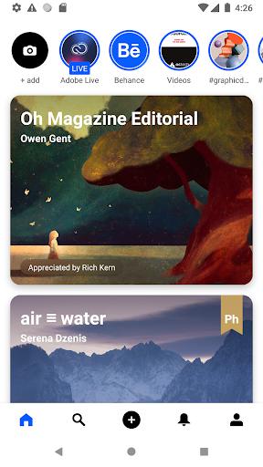 Behance: Photography, Graphic Design, Illustration screenshots 1
