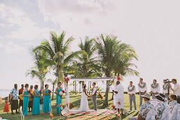 Wedding on the foot at First Landing Beach Resort and Villas