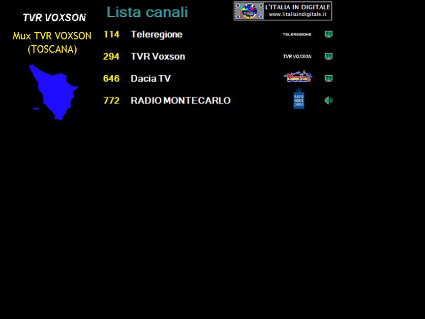 MUX TVR VOXSON (TOSCANA)