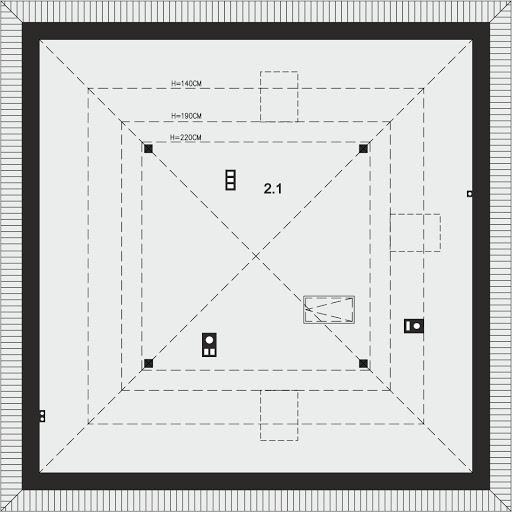 Tryton B - Strych - przykładowa aranżacja