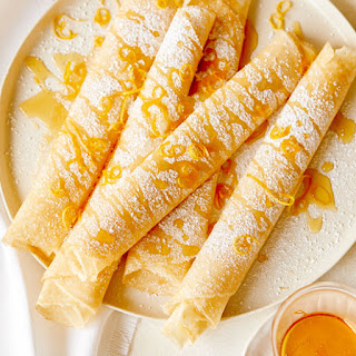 Meyer Lemon and Ricotta Stuffed Crepes.