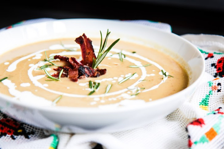 Parsnip Chestnut Soup with Apples and Bacon Recipe | Yummly