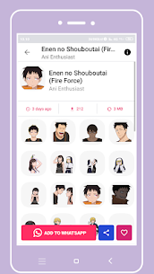 +1000 Anime Stickers For WhatsApp (WAStickerApps) Download For Android 3