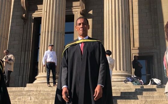 Former Springbok wing Ashwin Willemse at Wits University on Thursday July 5 2018.
