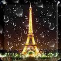 Rainy Paris Live Wallpaper PRO icon