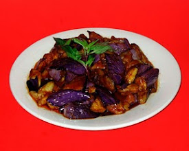 Photo: I just liked the way the eggplant and Chinese basil looked in this dish.