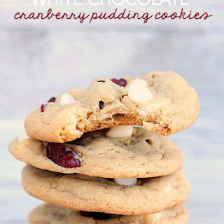 White Chocolate Cranberry Pudding Cookies