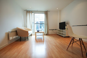 modern living area farringdon apartment