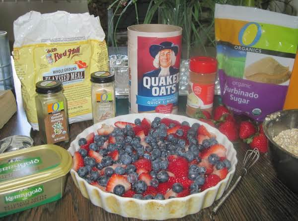 Fresh Strawberries And Blueberries Plus The Topping Stuff!