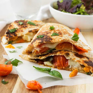 Roasted Vegetable 'Caprese' Quesadillas Recipe