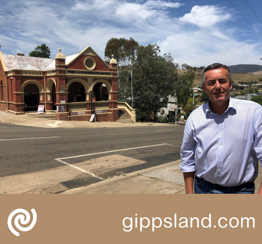 Local MP Darren Chester said a redeveloped Omeo streetscape is one of more than $25 million worth of projects seeking bushfire recovery funding