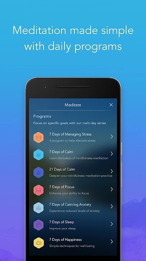 Screenshot 8 for Calm's Android app'