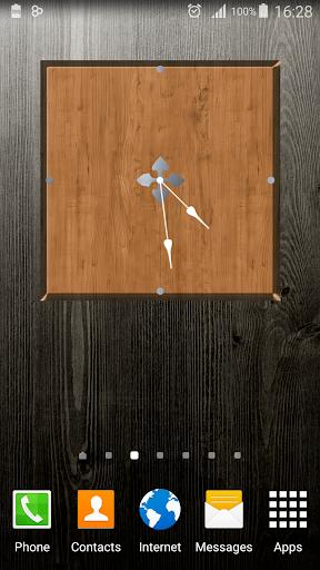 Wood Clock Widget