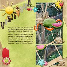 Photo: Freebie Julho Macaco by Armazém Criativo Flowers, sun, ice creams and fruits - Free5000Face by Armazém Criativo Beige and Brown Alpha by Ariane Rezende Font Forte PS CS5