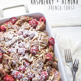 Baked Raspberry + Almond French Toast