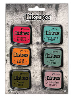 Tim Holtz Distress Enamel Collector Pin Set 6/Pkg - Set 9