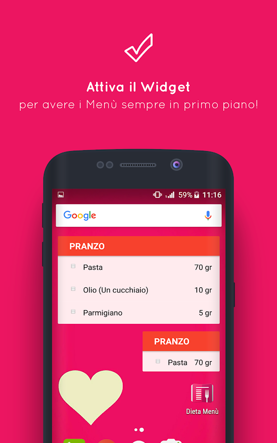 Popolare Menu Dieta (per dimagrire) - App Android su Google Play ZN72