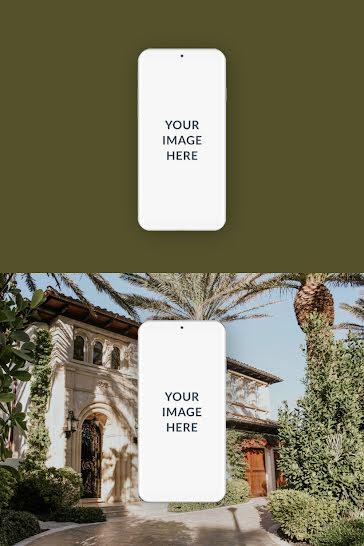 Double Phone Mockup - Pinterest Pin Template