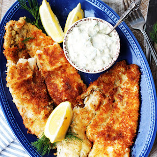 Panko Fried Flounder + Homemade Tartar Sauce.