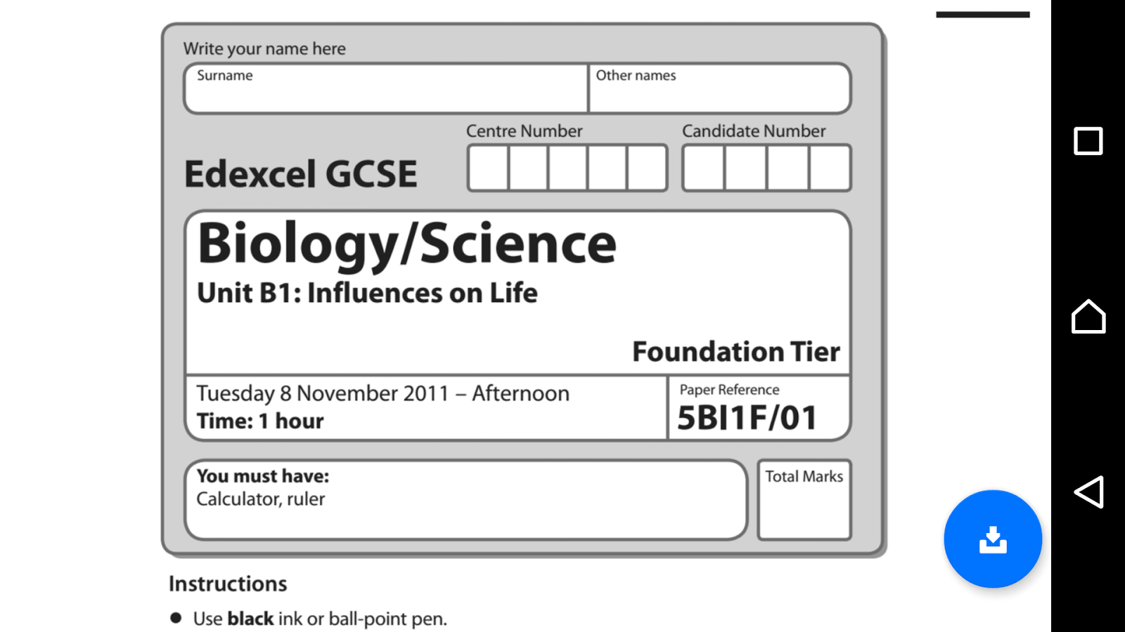 edexcel past science papers gcse I no longer update these exam links- please visit my website fastpastpaperscom below for all your gcse exam papers.