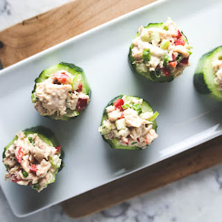 Whole30 Safe Catch Tuna Cucumber Cups.